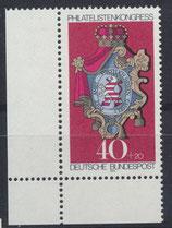 BRD 764 postfrisch mit Eckrand rechts unten