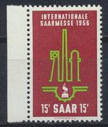 SAAR 368 postfrisch mit Bogenrand links