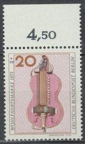 BERL  459 postfrisch Bogenrand oben (RWZ 4,50)