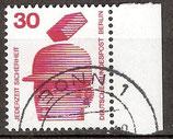 BERL 406 gestempelt Bogenrand rechts