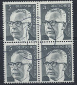 BERL 359 gestempelt Viererblock