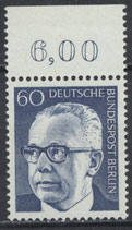BERL 394 postfrisch Bogenrand oben (RWZ 6,00)