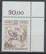 BRD 1445 postfrisch mit Eckrand rechts oben
