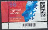 BRD 3590 postfrisch mit Eckrand links unten