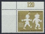 SAAR 429 postfrisch mit Eckrand links oben