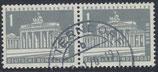 BERL 140y  gestempelt waagrechtes Paar