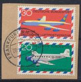 BRD 576-577 gestempelt auf Briefstück
