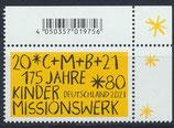 BRD 3582 postfrisch mit Eckrand rechts oben