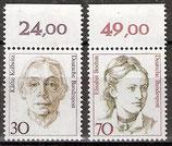 1488-1489 postfrisch mit Bogenrand oben (RWZ) (BRD)