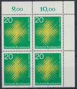 BRD 647 postfrisch mit Eckrand rechts oben