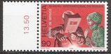 109 postfrisch mit Bogenrand links (CH-BIT/ILO)