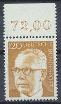BRD 691 postfrisch mit Bogenrand oben (RWZ 72,00)