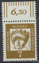 200 postfrisch Bogenrand oben (RWZ 6,30) (BERL)