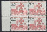 BRD 290 postfrisch Viererblock mit Bogenrand links