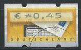 BRD-ATM 5 - 45 gestempelt