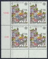 AT 1876 postfrisch Viererblock mit Eckrand links unten