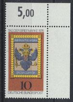 BRD 903 postfrisch mit Eckrand rechts oben