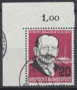 266 gestempelt mit Eckrand links oben (BRD)