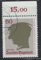 BERL 701 gestempelt mit Bogenrand oben (RWZ 15,00)