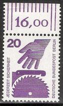BERL 404 postfrisch mit Bogenrand oben (RWZ 16,00)