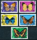 386-390 gestempelt (DJ-Schmetterlinge)