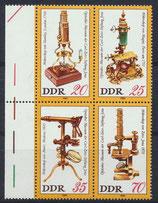 DDR 2534-2537 postfrisch Viererblock mit Bogenrand links