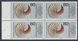 BRD 1185 postfrisch Viererblock mit Bogenrand links