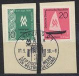 DDR 536-537  philat. Stempel auf Briefstück