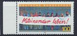 BRD 1725 postfrisch mit Bogenrand links