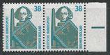 BRD 1400 postfrisch waagrechtes Paar mit Bogenrand rechts