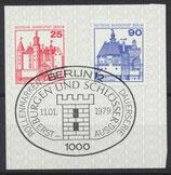 BERL 587+588  gestempelt mit Ersttagssonderstempel