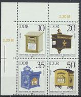 DDR 2924-2927 postfrisch Viererblock mit Eckrand links oben