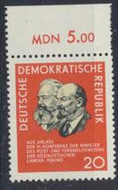 DDR 1120  postfrisch mit Bogenrand oben