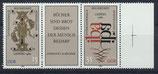 DDR 2697-2698 postfrisch Dreierstreifen mit Bogenrand rechts