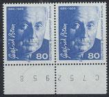 BERL 760  postfrisch waagrechtes Paar mit Bogenrand unten