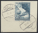 DR 676 gestempelt auf Briefstück