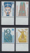 BRD 1398-1401 A postfrisch mit Bogenrand unten