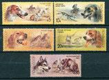 5827-5831 postfrisch (SU-Hunde)