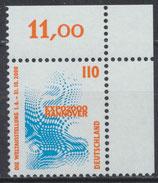 2009 postfrisch Eckrand rechts oben (BRD)