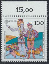 BRD 1609 postfrisch mit Bogenrand oben