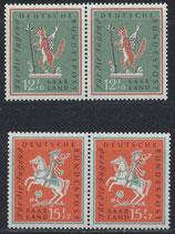SAAR 433-434 postfrisch waagrechte Paare