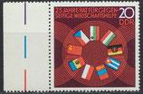 DDR 1918 postfrisch mit Bogenrand links