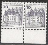 532 postfrisch  waagrechtes Paar  (BERL)