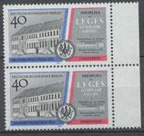 BERL 856 postfrisch senkrechtes Paar mit Bogenrand rechts