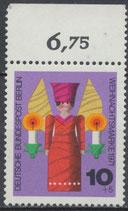 417 postfrisch Bogenrand oben (RWZ 6,75) (BRD)