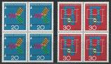 BRD 521-522 postfrisch Viererblocksatz