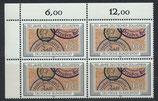 BRD 1195 postfrisch Viererblock mit Eckrand links oben