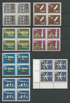 BRD 468-474 postfrisch Viererblocksatz