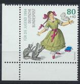 BRD 1726 postfrisch Eckrand links unten