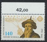 BRD 1607 postfrisch mit Bogenrand oben